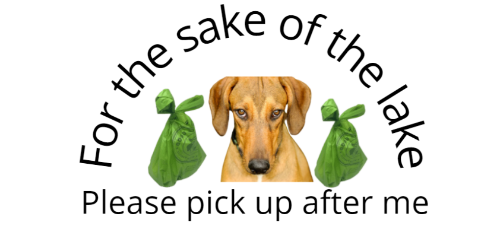 for the sake of the lake pick up after your dog