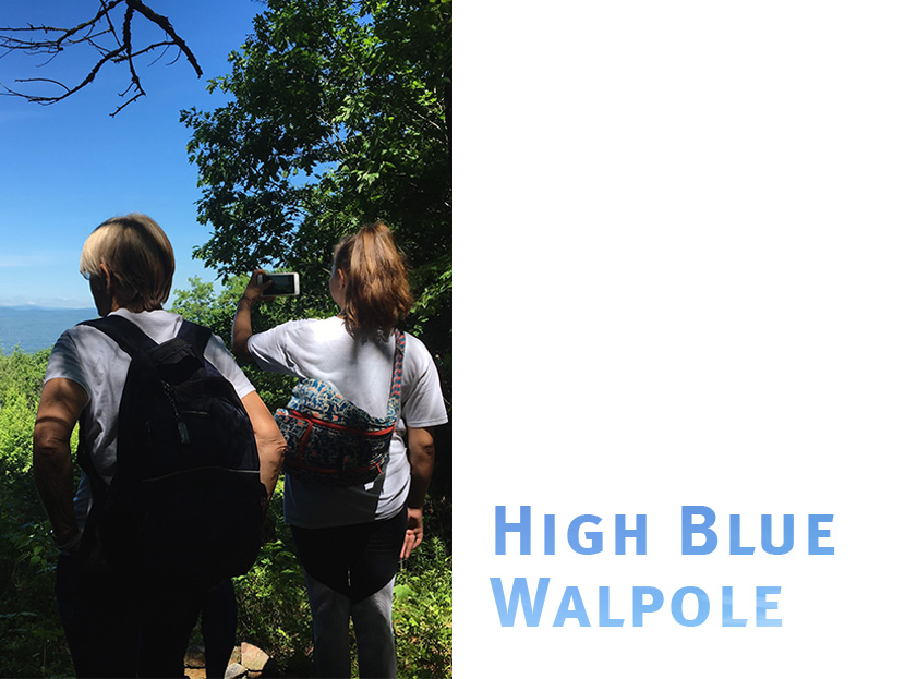 Hikers take in the view at High Blue Reservation in Walpole NH