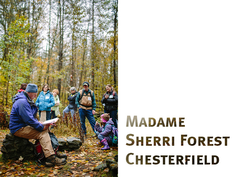 Dave Anderson shares stories about the history of Madame Sherri Forest in Chesterfield, NH