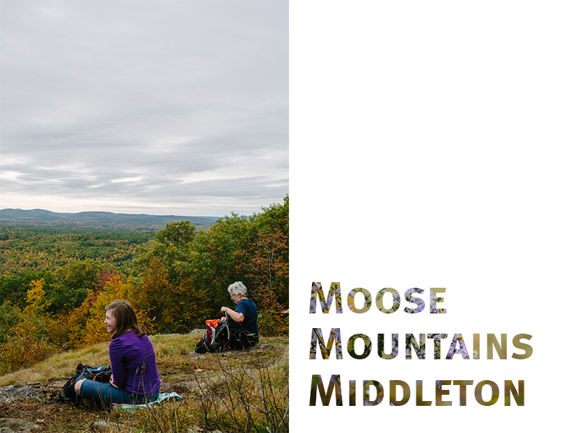 Moose Mountains reservation hiking destination in southeast New Hampshire