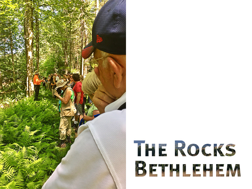 The historic and scenic Rocks in Bethlehem, NH offers views of the Presidential Range and sprawling fields of Christmas trees