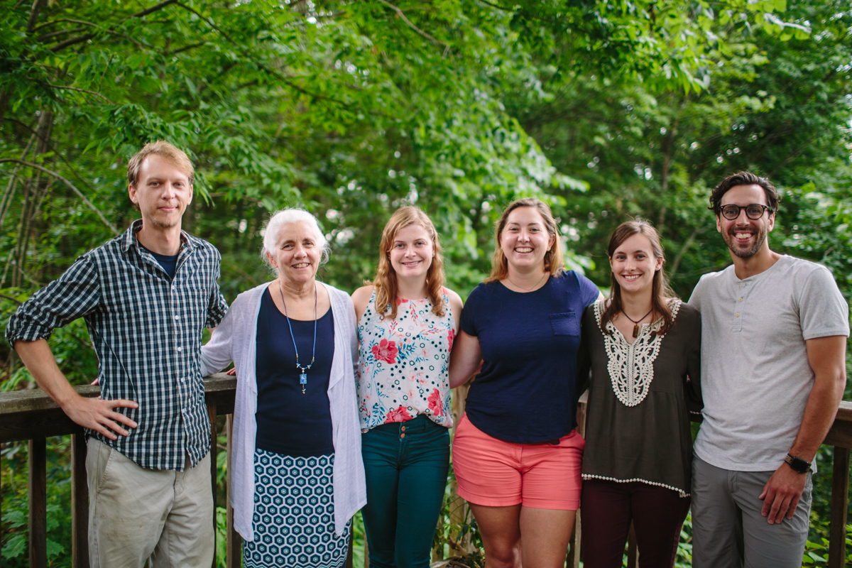 Easement Stewardship Staff (L to R): Abraham Ames, Connie Colton, Emily Landry, Naomi Houle, Stacie Powers, and Zach Pearo