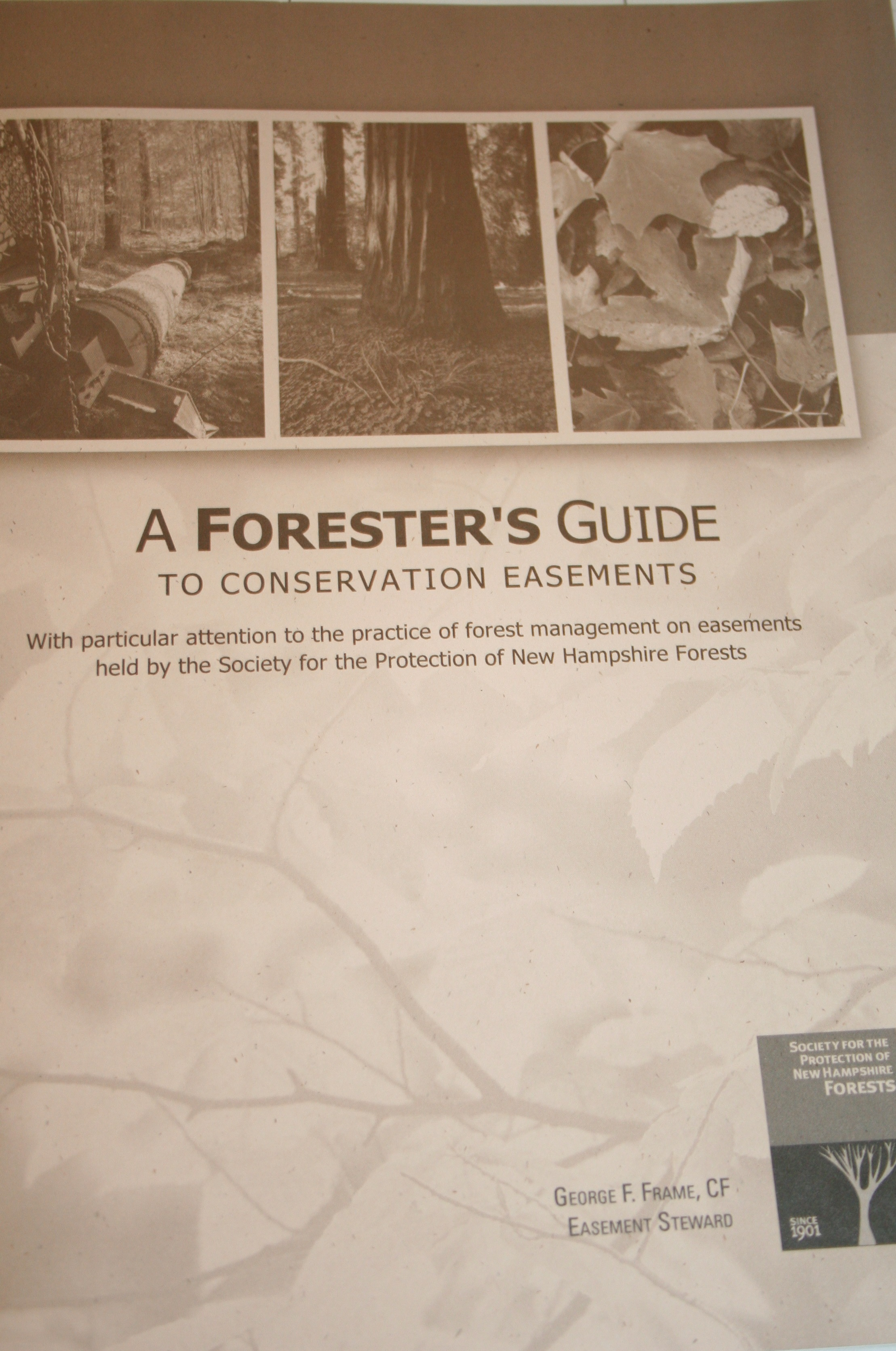 The cover of the Forester's Guide.