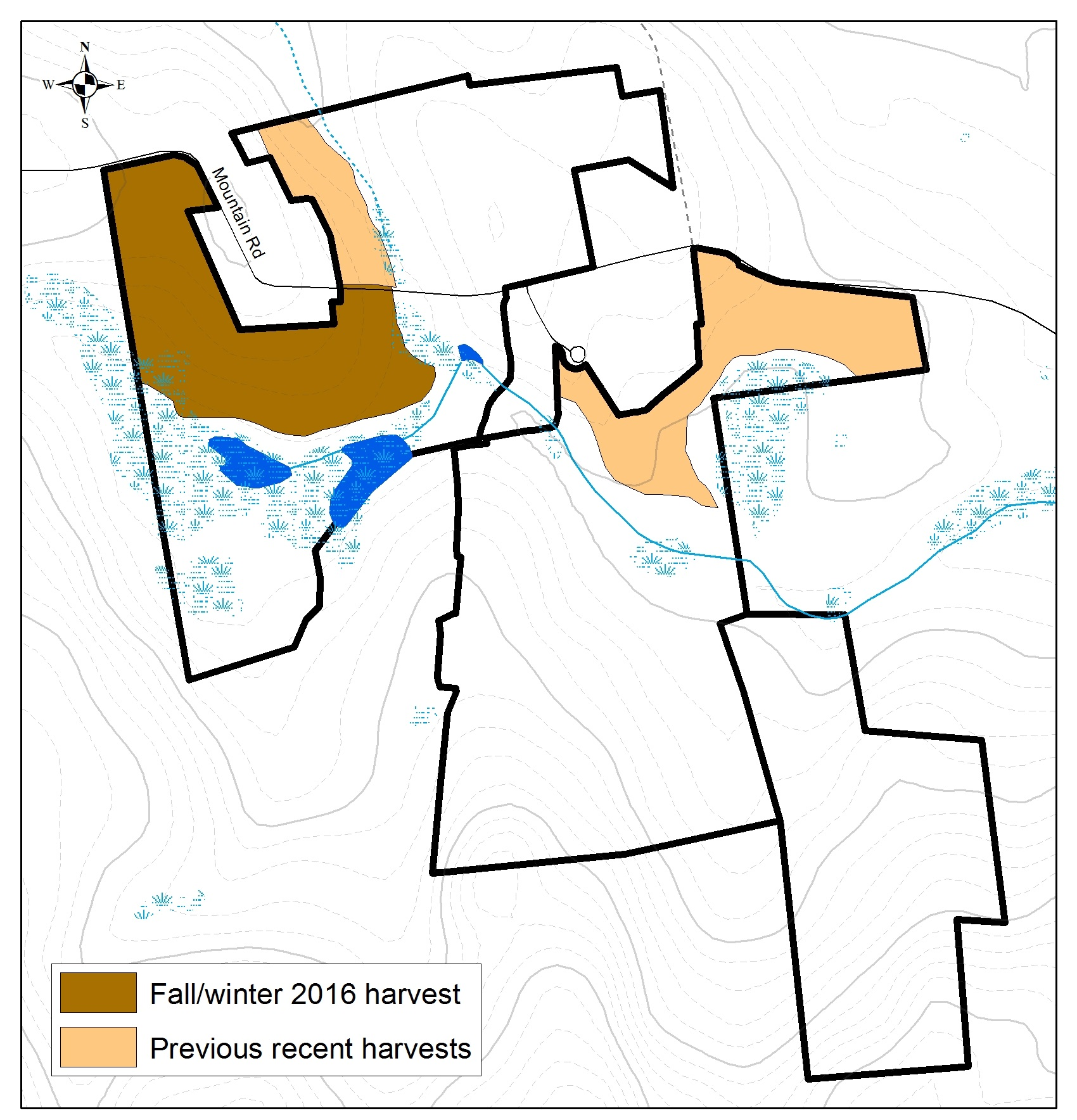 Whittemore Reservation timber harvest map fall 2016