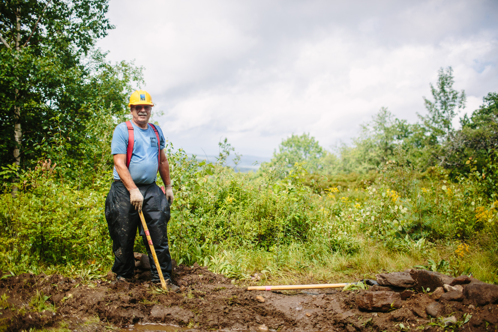Volunteer Bob Humphrey is also a member of the Cardigan Highlanders Volunteer Trail Crew