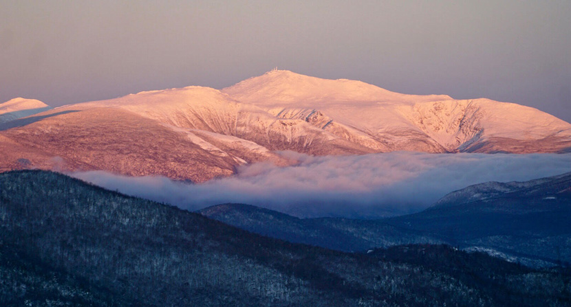 View of Mount Washington from the Maple Villa Glade on Bartlett Mountain