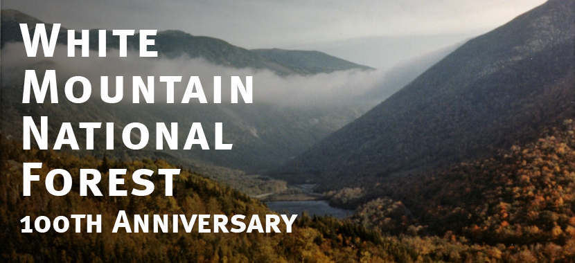 100 Years of the White Mountain National Forest Graphic Clouds in Franconia Notch