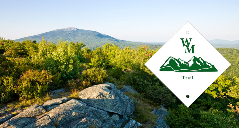 The Wantastiquet Monadnock Trail (WMT) stretches 50 miles and includes the Forest Society's Madame Sherri Forest, Gap Mountain, Monadnock Reservations.
