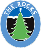 christmas tree inside a circle rocks logo