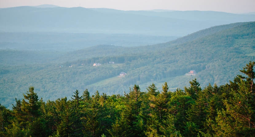 Forests and farmland in New Hampshire