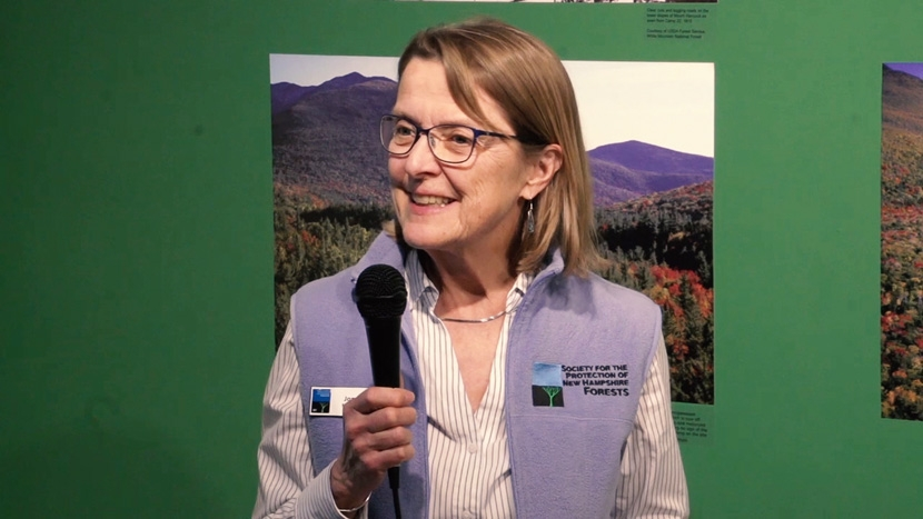 Jane Difley, President/Forester, at the Centennial Celebration of the People's Forest at the Museum of the White Mountains