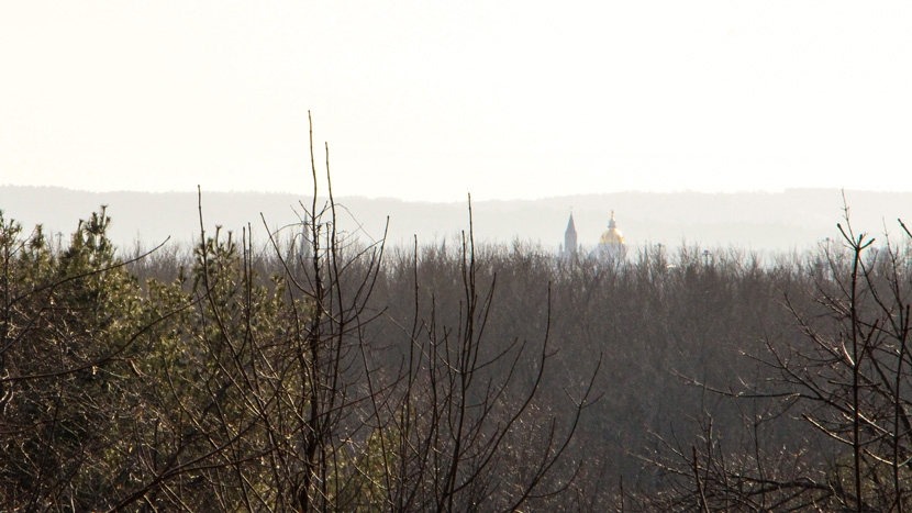 View of the NH capitol from the Conservation Center in East Concord