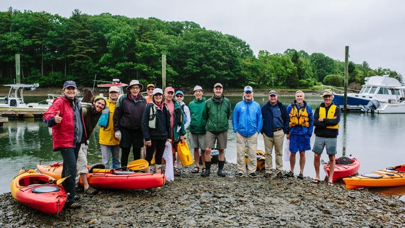 Paddlers Clean Up Tidal Creek in Portsmouth New Hampshire