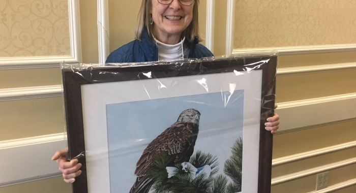 Jane Difley with the Integrity in Conservation Award from the New England Society of American Foresters