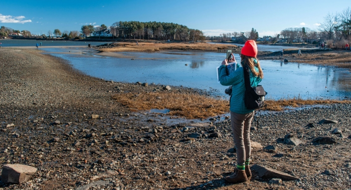 Creek Farm's shoreline hike meanders along scenic Sagamore Creek in Portsmouth