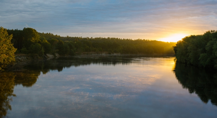 Merrimack River Outdoor Education and Conservation Area at sunrise