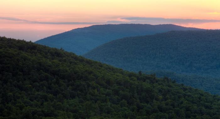 Unfragemented forestland in New Hampshire