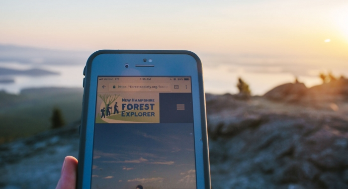 Enhanced trail maps for smartphone users who hike Mount Major in Alton Bay