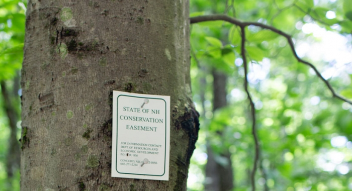 State of NH Conservation Easement Boundary Tag
