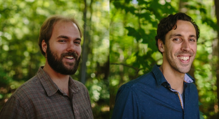 New Stewards Matt Scaccia and Zach Pearo will assist the Easement Stewardship Department at the Forest Society