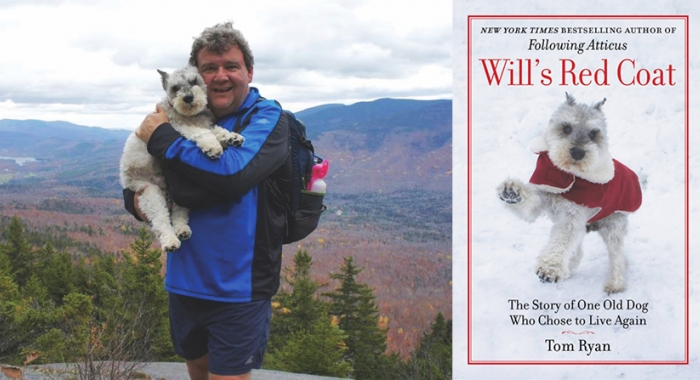 Author Tom Ryan and his dog in the White Mountains