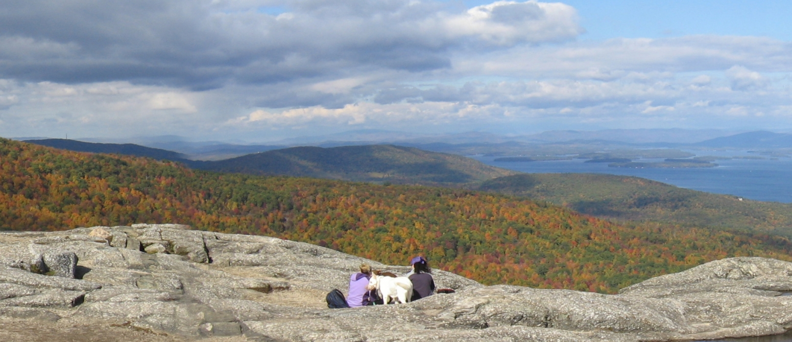 A view from the summit of Mount Major overlooking Lake Winnipesaukee.