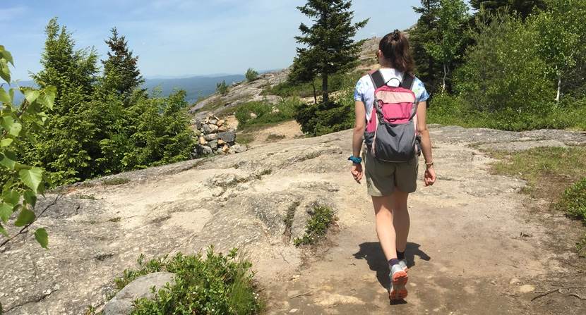 Hiking stewards offer visitors education and information on Mount Major in Alton New Hampshire