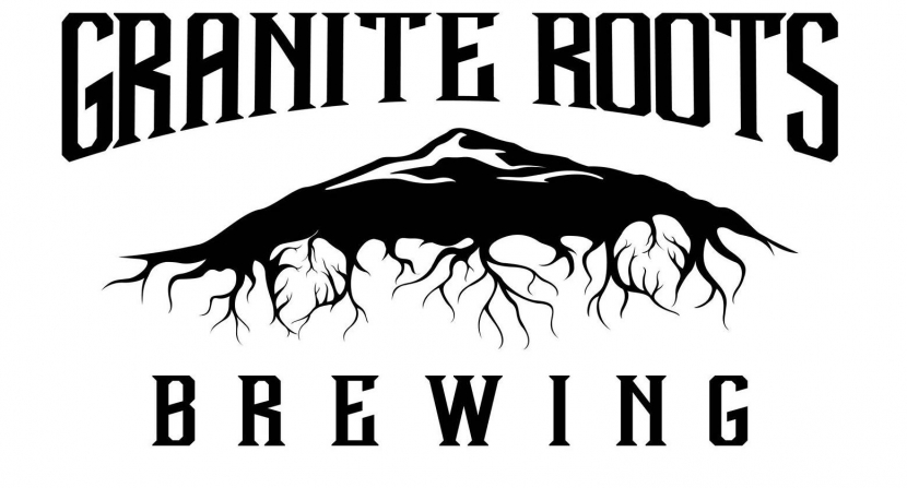 The logo of Granite Roots Brewing is a tree with roots.