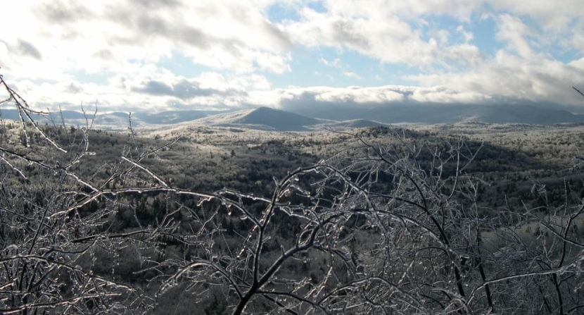 Ice storm blankets the landscape in New Hampshire