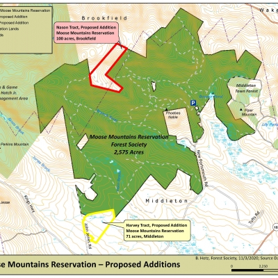 A map of the proposed Moose Mountains expansion.