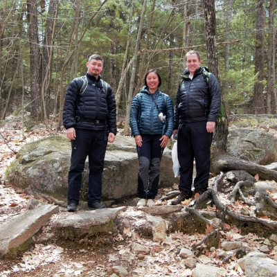 A group of hikers from Nashua and Dunbarton volunteered to pick up trash along the trail.