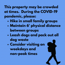 An advisory about crowded conditions at this property.