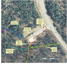 A map of the project area with detours.