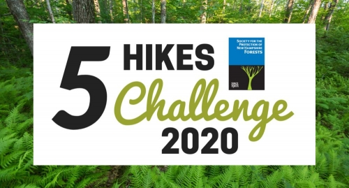 Five HIkes Challenge logo graphic as a Facebook banner