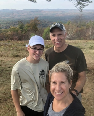 Member Thomas Algozzine is pictured with his family at the summit of High Five Reservation as part of the 2020 5 Hikes Challenge.