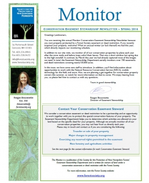 2016 Conservation Easement Stewardship Newsletter