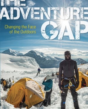 The cover of The Adventure Gap shows James Mills on Denali.