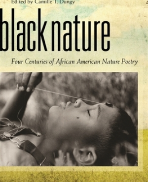 Black Nature book cover has a woman lying down with eyes closed.