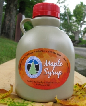 A quart of syrup from The Rocks.