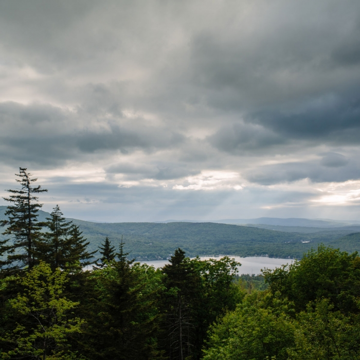 Lake Sunapee from Sunset Hill at the Forest Society's Hay Reservation in Newbury