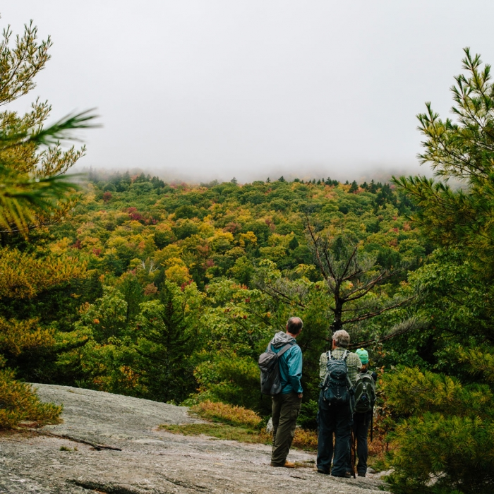 Mount Major hikers take in autumn views