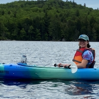 Elyse Scott is pictured in her kayak.