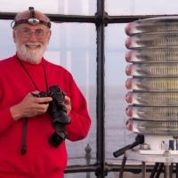 Photographer John Whedon on location at White Island Light.