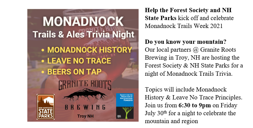 Monadnock Trails and Ales Kickoff Party and Trivia night @ Granite Roots Brewing